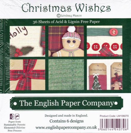 "Christmas Wishes 36 Sheets 6"" x 6"" Paper Pad by Lindsay Mason"